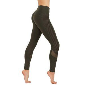 Dry-Fit Cut Out Mesh Panels Workout Leggings 647